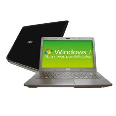 "Notebook CCE Intel Atom D2500 2GB de RAM HD 320 GB LED 14"" Windows 7 Starter Edition M300S"