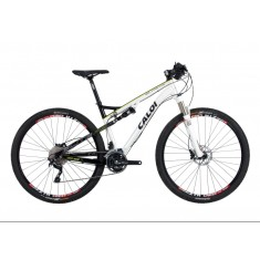 Foto Bicicleta Mountain Bike Caloi 30 Marchas Aro 29 Suspensão Full Suspension Freio a Disco Elite FS
