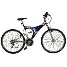 Foto Bicicleta Mountain Bike Life Zone 18 Marchas Aro 26 Full Suspension Aro 26