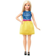 Foto Boneca Barbie Fashionistas Chambray Chic Mattel