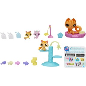 Foto Boneca Littlest Pet Shop Movimentos Mágico Kittens Hasbro