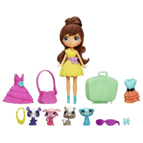 Foto Boneca Littlest Pet Shop Travel Trendy Blythe & Pets Hasbro