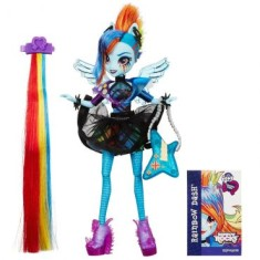 Foto Boneca My Little Pony Equestria Girls Rainbow Dash Rainbow Rocks B1038 Hasbro