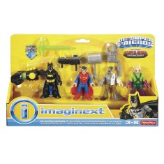 Foto Boneco Imaginext DC Super Friends Batman Super Homem DPB23 - Fisher Price