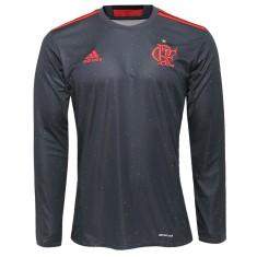 Camisa Adidas Flamengo I 2016 Manga Longa Futfanatics a02cb3e39214c