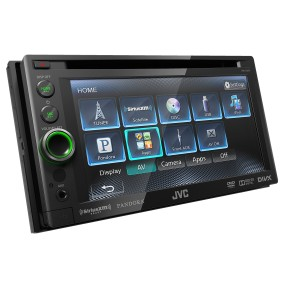 "Foto DVD Player Automotivo JVC 6 "" KW-AV61 Touchscreen USB"