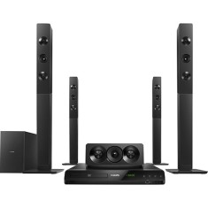 Foto Home Theater Philips com DVD 1.000 W 5.1 Canais Karaokê 1 HDMI HTD5580X/78