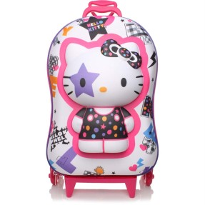Foto Mochila com Rodinhas Escolar Max Toy by Diplomata Hello Kitty Hello Kitty Star