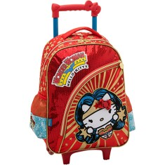 Foto Mochila com Rodinhas Escolar PCF Global Hello Kitty DC Comics Winder 964A01