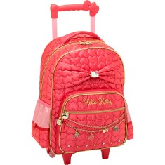 Foto Mochila com Rodinhas Escolar PCF Global Hello Kitty Sparkling 924Q02C