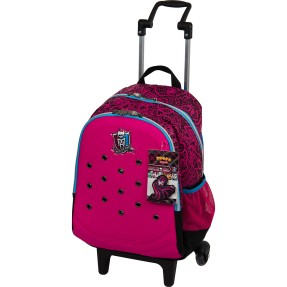 Foto Mochila com Rodinhas Escolar Sestini Monster High 16 Litros Monster High 63150