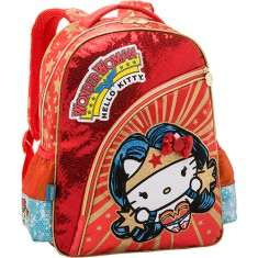 Foto Mochila Escolar PCF Global Hello Kitty Comics Wonder Woman G 964A04