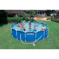 Piscina infl vel arma o intex mais de 6000 litros for Piscina 6000 litros