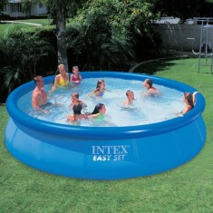 Foto Piscina Inflável 10.681 l Redonda Intex Easy Set 56410