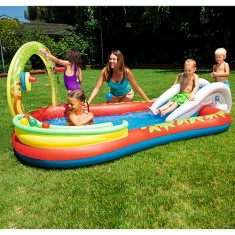 Foto Piscina Inflável 250 l Oval Bestway Play Center Interativo