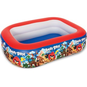 Foto Piscina Inflável 506 l Retangular Bestway Angry Birds Multicores