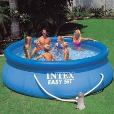 Foto Piscina Inflável 6.734 l Redonda Intex Easy Set 56931
