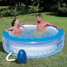 Foto Piscina Inflável 768 l Redonda Bestway Bubble Play SPA