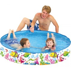 Foto Piscina Snapset 350 l Redonda Jilong World Pool Peixes