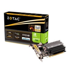 Foto Placa de Video NVIDIA GeForce GT 730 1 GB DDR3 64 Bits Zotac ZT-71114-20L