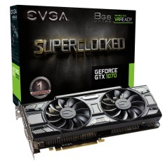 Foto Placa de Video NVIDIA GeForce GTX 1070 8 GB GDDR5 256 Bits EVGA 08G-P4-5173-KR
