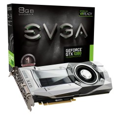 Foto Placa de Video NVIDIA GeForce GTX 1080 8 GB GDDR5X 256 Bits EVGA 08G-P4-6180-KR