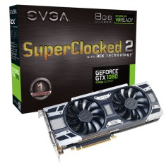 Foto Placa de Video NVIDIA GeForce GTX 1080 8 GB GDDR5X 256 Bits EVGA 08G-P4-6583-KR