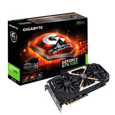 Foto Placa de Video NVIDIA GeForce GTX 1080 8 GB GDDR5X 256 Bits Gigabyte GV-N1080XTREME-8GD