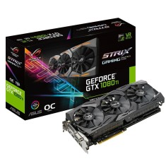 Foto Placa de Video NVIDIA GeForce GTX 1080 Ti 11 GB GDDR5X 352 Bits Asus ROG-STRIX-GTX1080TI-O11G-GAMING