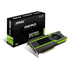 Foto Placa de Video NVIDIA GeForce GTX 1080 Ti 11 GB GDDR5X 352 Bits MSI GeForce® GTX 1080 Ti AERO 11G OC