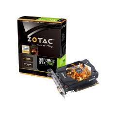Foto Placa de Video NVIDIA GeForce GTX 750 1 GB GDDR5 128 Bits Zotac ZT-70706-10M