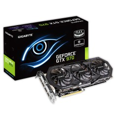 Foto Placa de Video NVIDIA GeForce GTX 970 4 GB GDDR5 256 Bits Gigabyte GV-N970WF3OC-4GD