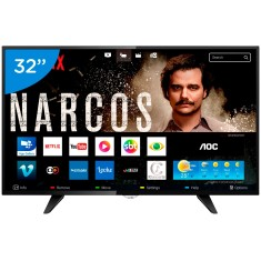 "Foto Smart TV LED 32"" AOC Série 5000 LE32S5970 3 HDMI 