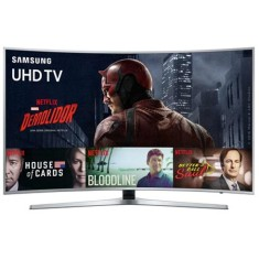 "Foto Smart TV LED 55"" Samsung Série 6 4K UN55KU6500 3 HDMI"