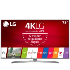 "Foto Smart TV LED 75"" LG 4K HDR 75UJ6585 4 HDMI"