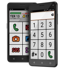 Foto Smartphone Multilaser MS50 Senior P9015 Android