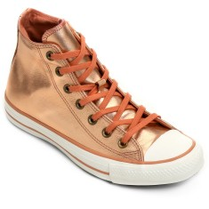 Foto Tênis Converse Feminino Ct As Mettalic Leather Hi Casual