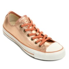Foto Tênis Converse Feminino CT AS Mettalic Leather OX Casual
