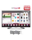"TV LED 60"" Smart TV LG Cinema 3D Full HD 3 HDMI Conversor Digital Integrado 60LA6200"