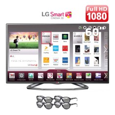 "Foto Smart TV LED 3D 60"" LG Cinema Full HD 60LA6200"
