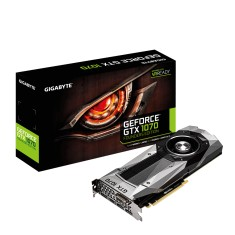 Placa de Video NVIDIA GeForce GTX 1070 8 GB GDDR5 256 Bits Gigabyte GV-N1070D5-8GD-B