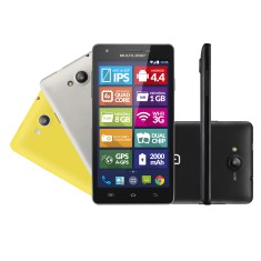 Smartphone Multilaser MS6 Colors TV Digital 8GB NB211 8,0 MP 2 Chips Android 4.4 (Kit Kat) 3G Wi-Fi