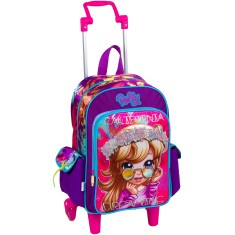 Mochila com Rodinhas Escolar Sestini Polly Pocket Polly 16Y M 64071