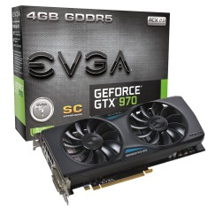 Placa de Video NVIDIA GeForce GTX 970 4 GB GDDR5 256 Bits EVGA 04G-P4-2974-KR