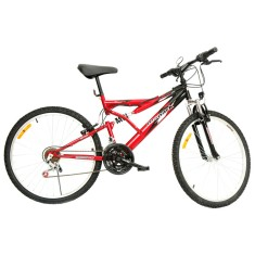Bicicleta Mountain Bike Monark 21 Marchas Aro 26 Suspensão Full Suspension Freio V-Brake Plus