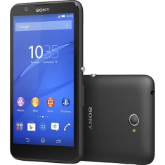 Smartphone Sony Xperia E4 E2124 TV Digital 8GB 5,0 MP 2 Chips Android 4.4 (Kit Kat) 3G Wi-Fi