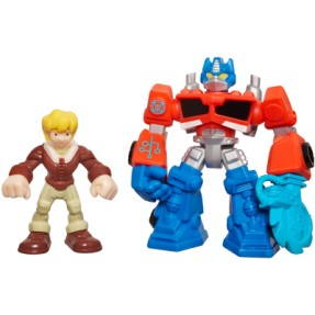 Boneco Optimus Prime Cody Burns Transformers Playskool Heroes A2108 - Hasbro