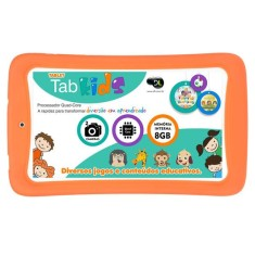 "Tablet DL Eletrônicos 8GB LCD 7"" Android 4.4 (Kit Kat) Tab Kids"
