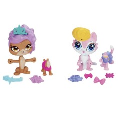 Boneca Littlest Pet Shop Amigos Fashion Lulu Von Muttson e Dania Duncan Hasbro