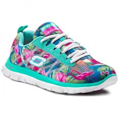 Tênis Skechers Feminino Casual Flex Appeal Floral Bloom